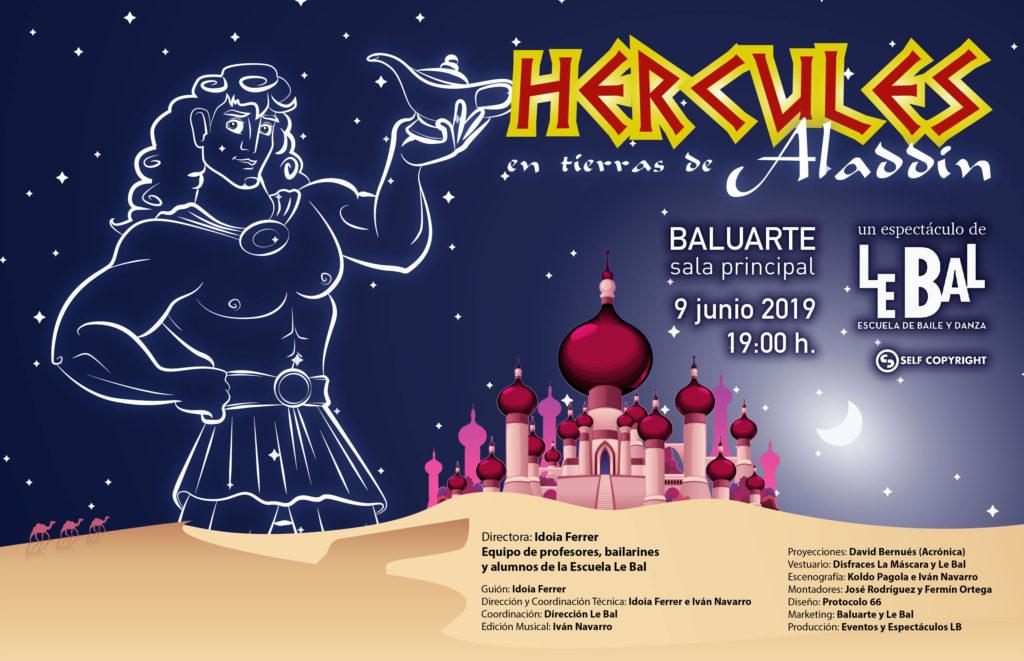 Cartel Hercules en tierras de Aladin Le Bal